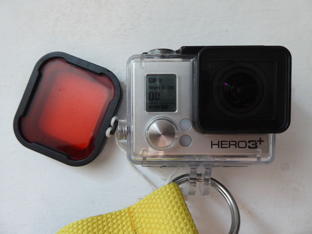 gopro and red filter