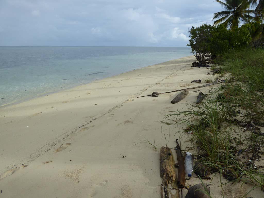 waste at beach in wakatobi
