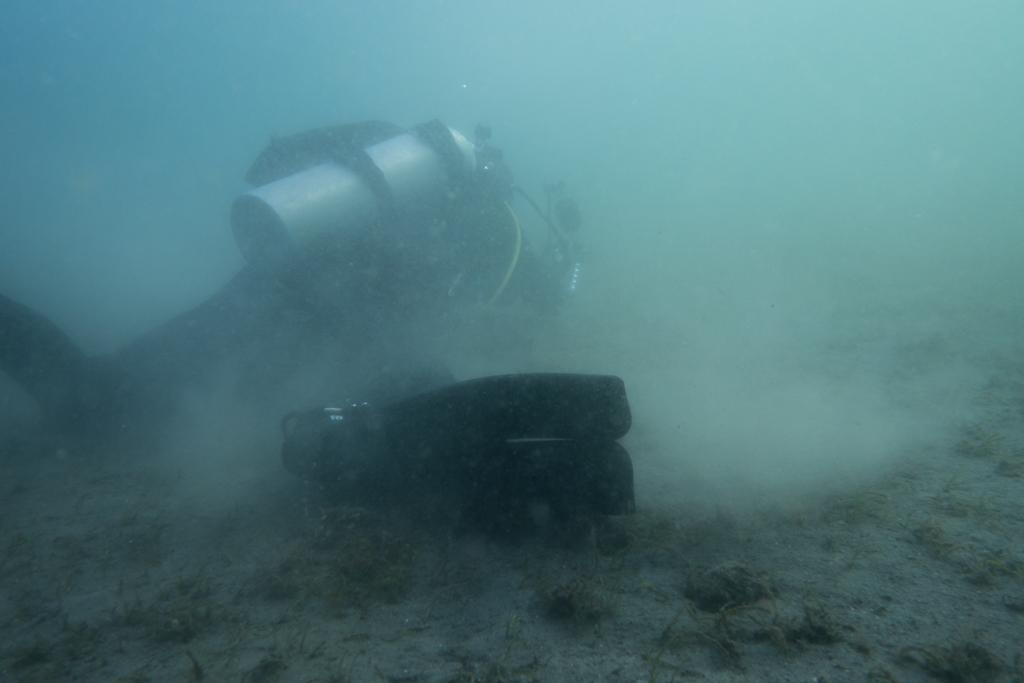 diver on ground