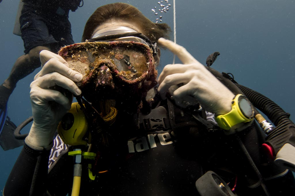 disgusting scuba diving mask